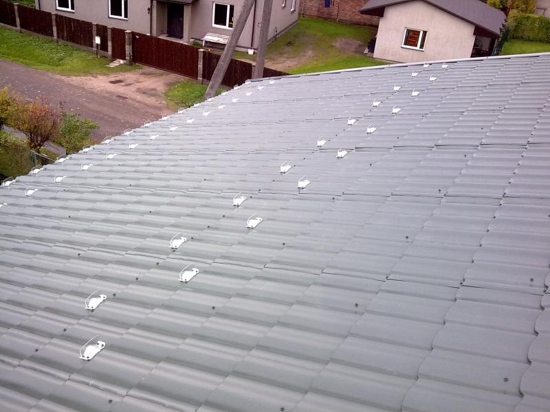 Снегозадержатели на крышу из шифера своими руками фото 59