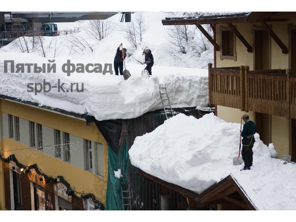 Инструкция по чистке снега с крыши